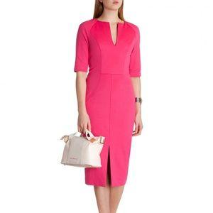 Ted Baker Irisica Pink Knit Column Dress Sz 3
